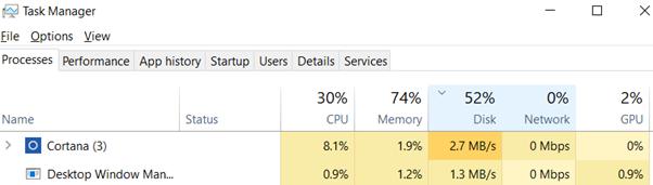 lenovo disk usage 100 windows 8